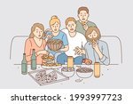 watching movie together leisure ...   Shutterstock .eps vector #1993997723