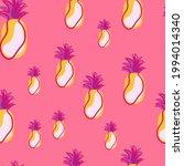 Random Yellow Pineapples Fruit...