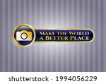 golden emblem or badge with... | Shutterstock .eps vector #1994056229