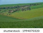 Rolling Hills And Farmland...
