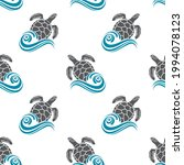 seamless pattern with sea... | Shutterstock .eps vector #1994078123