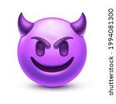 evil devil emoji. happy purple... | Shutterstock .eps vector #1994081300