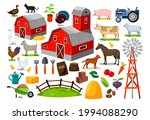 farm animals  buildings and...   Shutterstock .eps vector #1994088290