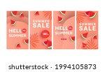 trendy summer sale banner... | Shutterstock .eps vector #1994105873