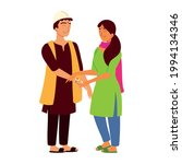 indian brother and sister... | Shutterstock .eps vector #1994134346