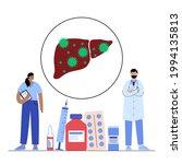 hepatitis logo. liver... | Shutterstock .eps vector #1994135813