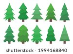 trees in cold green shades...   Shutterstock .eps vector #1994168840