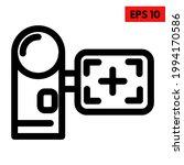 illustration of camera line icon | Shutterstock .eps vector #1994170586