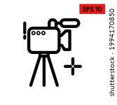 illustration of camera line icon | Shutterstock .eps vector #1994170850