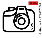 illustration of camera line icon | Shutterstock .eps vector #1994170940