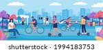 modern people lifestyle in the... | Shutterstock .eps vector #1994183753