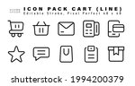 icon set of cart line icons.... | Shutterstock .eps vector #1994200379