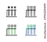 beakers for experiment icon set | Shutterstock .eps vector #1994209499