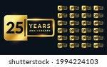 anniversary golden badge labels ...   Shutterstock .eps vector #1994224103
