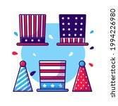 party hat collection of 4 july... | Shutterstock .eps vector #1994226980
