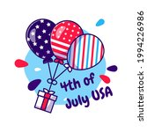 balloon collection themed usa... | Shutterstock .eps vector #1994226986