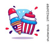 ice cream and cup cake for usa... | Shutterstock .eps vector #1994226989