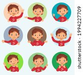 little boy facial expressions... | Shutterstock .eps vector #1994227709