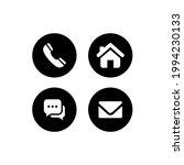 website icon set. contact us ... | Shutterstock .eps vector #1994230133