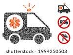 mosaic ambulance car icon... | Shutterstock .eps vector #1994250503