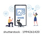 tiny male character shooting... | Shutterstock .eps vector #1994261420