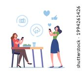 female characters shooting food ... | Shutterstock .eps vector #1994261426