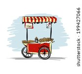 street food cart for your design | Shutterstock .eps vector #199427066