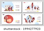 set of web pages with women...   Shutterstock .eps vector #1994277923