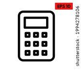 illustration of calculator line ... | Shutterstock .eps vector #1994278106