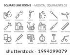 medical equipments  square line ...   Shutterstock .eps vector #1994299079