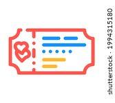 honeymoon ticket travel color... | Shutterstock .eps vector #1994315180