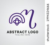 m logo abstract typography for...   Shutterstock .eps vector #1994324666