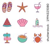 summer line and fill style icon ... | Shutterstock .eps vector #1994325080