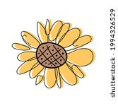 sunflower flower isolated on... | Shutterstock .eps vector #1994326529