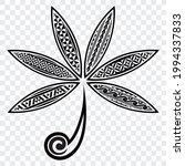 polynesian tribal leaves... | Shutterstock .eps vector #1994337833