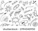 hand drawn set elements... | Shutterstock .eps vector #1994340950
