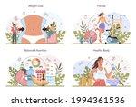 weight loss concept set. idea...   Shutterstock .eps vector #1994361536