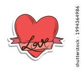 heart love ribbon sticker... | Shutterstock .eps vector #1994364986