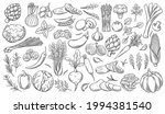 vegetables outline vector icons ... | Shutterstock .eps vector #1994381540