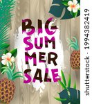 summer sale poster with... | Shutterstock .eps vector #1994382419