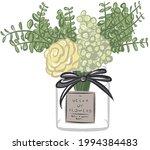 beautiful vase of flowers... | Shutterstock .eps vector #1994384483