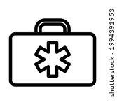 medica case icon. bold outline...   Shutterstock .eps vector #1994391953