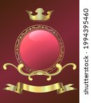 red background with crown over... | Shutterstock .eps vector #1994395460