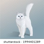 vector white cat with blue eyes ...   Shutterstock .eps vector #1994401289
