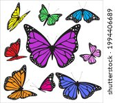 color butterfly  isolated on a... | Shutterstock .eps vector #1994406689