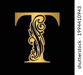 golden  letter t. vintage... | Shutterstock .eps vector #1994410943