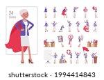 attractive old woman  elderly... | Shutterstock .eps vector #1994414843