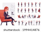 businesswoman  young red haired ... | Shutterstock .eps vector #1994414876