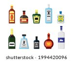 set of alcohol bottles with...   Shutterstock .eps vector #1994420096