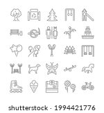 collection of linear park icons.... | Shutterstock .eps vector #1994421776